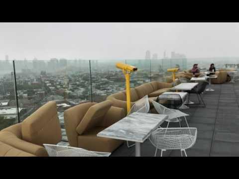 Windige Terrasse
