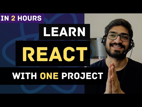 Learn React JS with Project in 2 Hours  | React Tutorial for Beginners | React Project Crash Course