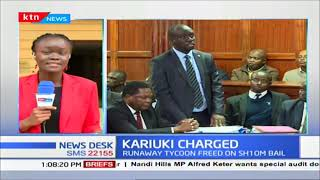 Businessman Humphrey Kariuki appeared at the Mililani law court to answer to charges against him
