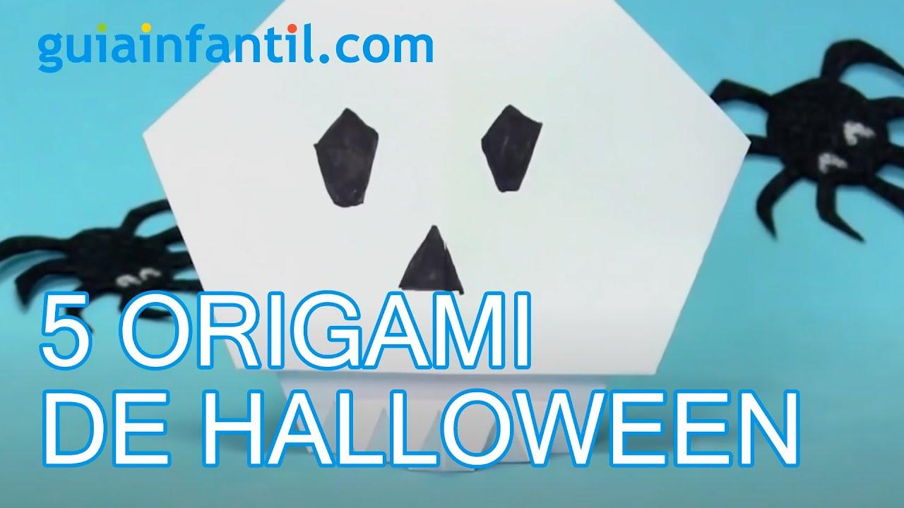 5 figuras de origami para Halloween | Papiroflexia para niños
