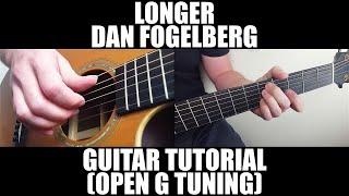Longer by Dan Fogelberg - Guitar Lesson (Open G Tuning)