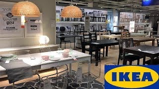 IKEA DINING ROOM FURNITURE TABLES CHAIRS HOME DECOR SHOP WITH ME SHOPPING STORE WALK THROUGH 4K