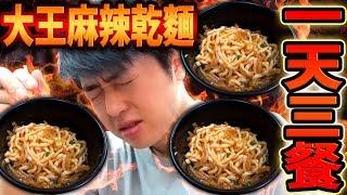 挑戰一天只吃大王麻辣乾麵吃三餐! 吃太多太辣的東西頭痛, 頭暈, 肚子痛差點送醫院了...