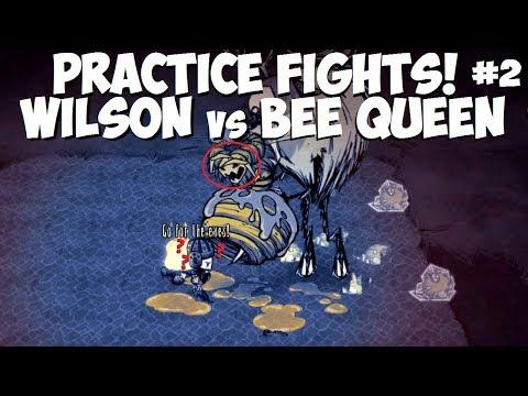 Don't Starve Together → Wilson VS Bee Queen (using Deerclops) (Practice Fights)