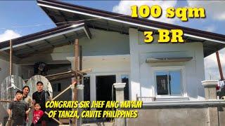 OFW DREAM HOUSE OF SIR JHEF OF TANZA, CAVITE PHILIPPINES WORTH, 1.2 MILLION, 100SQM