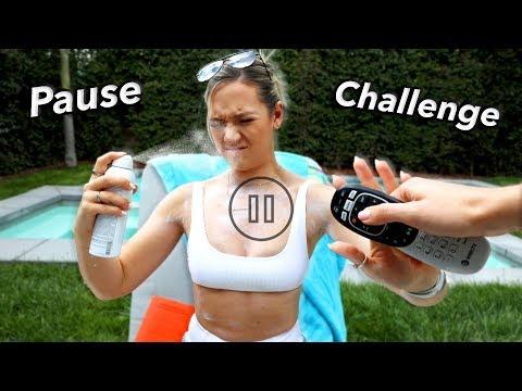 Pause Challenge!  *Roommate Prank Wars*