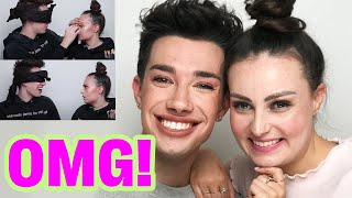 James Charles Does My Makeup BLINDFOLDED!