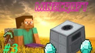 Minecraft 1.7.10   #3   Нашёл алмазы и эл.Дробитель