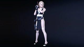New Release RESIDENT EVIL 3 Mod Cutscene Jill Mai Shiranui Cosplay BLACK Outfit 4K