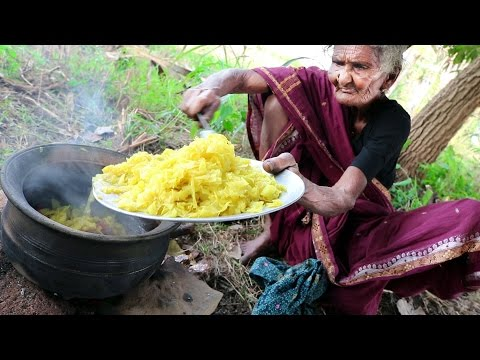 Cabbage recipe – Traditional Cabbage Curry Made by 105 Years old Grand Mother – Country Foods