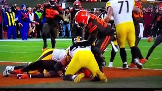 Myles Garrett hits Mason Rudolph with helmet! Browns vs Steelers. Full video