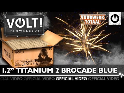 """1.2"""" Titanium Brocade 2 Blue"""