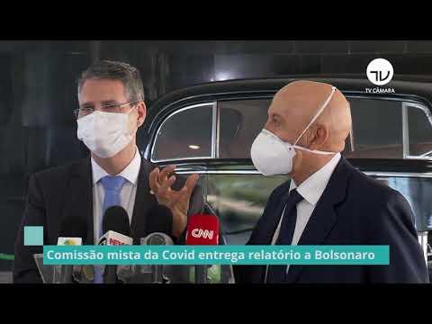 Comissão mista da Covid entrega relatório a Bolsonaro - 12/01/21