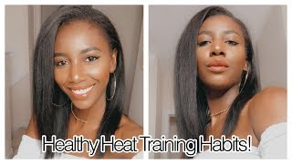 How To Heat Train Natural Hair in a Healthy Way | Simply Subrena