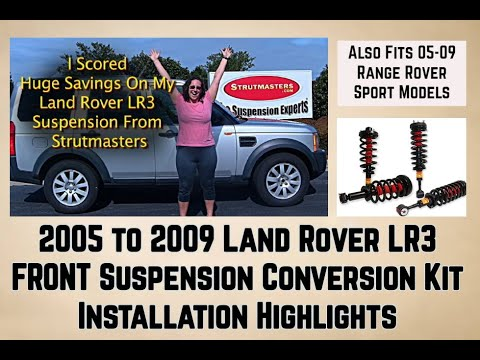Front Strut Conversion Installation 2005 2009 Land Rover LR3