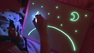 Рисуй светом A3 - Большой набор для рисования в темноте + LED фонарик в Подарок! от компании Телемагазин - видео