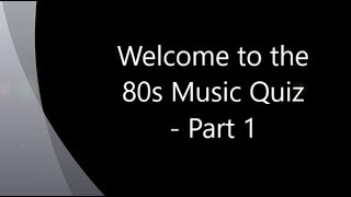 80s Music Quiz   Name That Tune   Party Game  (part 1)