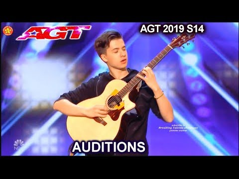 Marcin Patrzalek Guitarist FANTASTIC GUITAR PLAYING | America's Got Talent 2019 Audition