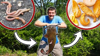 EPIC FOOD CHAIN FISHING CHALLENGE! (Catch, Clean, Cook)