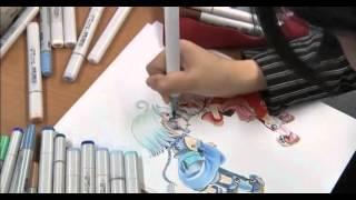 Японская школа по рисования манги