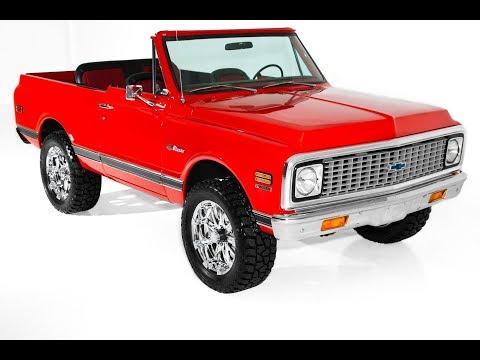 1972 Chevrolet Blazer 4x4 Houndstooth 4 speed - for sale - Red