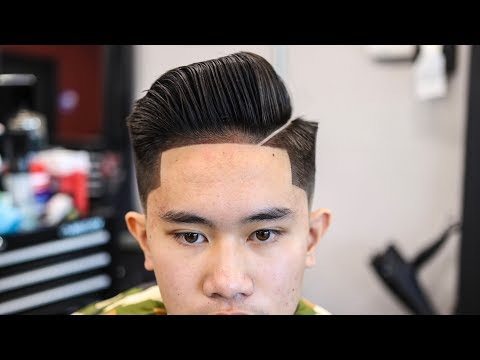 MENS HAIRCUT TUTORIAL: COMBOVER | BLOWDRY & STYLE | LOW FADE | ENHANCEMENTS