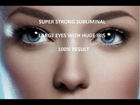 LARGE EYES WITH HUGE IRIS(ALMOND EYES) | SUPER STRONG AFFIRMATIONS