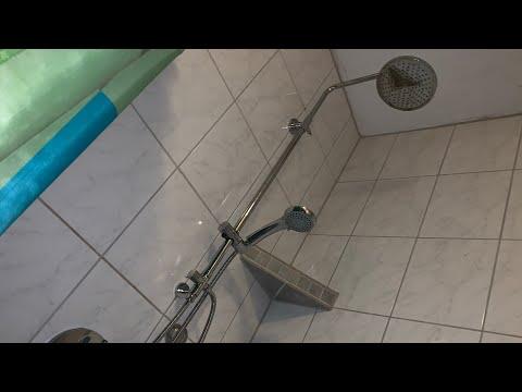 WOOHSE Duschsystem mit Regenbrause und Handbrause Easy-clean Duschset unboxing und Montage Anleitung
