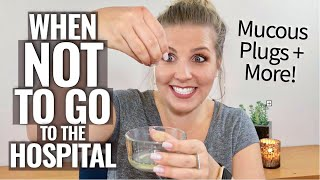 When NOT to Go to the Hospital- Mucous Plugs & More! | Sarah Lavonne