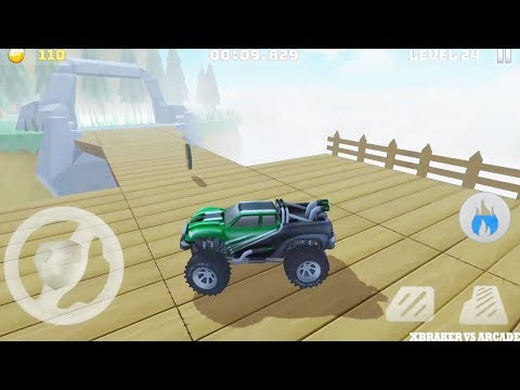 Mountain Climb Stunt 4x4 | Monster Truck Driving Impossible Stunts | Green Car - Android GamePlay HD
