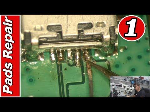 MOBILE REPAIRING COURSE #1 Charging connector pads repair ...