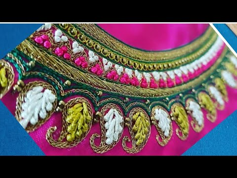 Blouse Design With French Knots | Aari Maggam Works | #88
