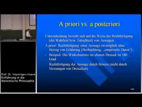 Grundbegriffe der Erkenntnistheorie II: Analytisch - synthetisch, a priori - a posteriori