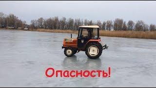 Риск! Дрифт Трактора на льду. Hinomoto N239