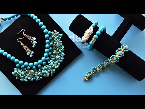 Download PandaHall Easy DIY Jewelry Set Tutorial On Turquoise Beads HD Mp4 3GP Video and MP3