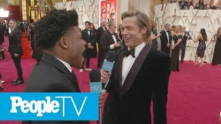 Watch Celebrities On The Oscars Red Carpet Flip Out Over Meeting Cheer's Jerry Harris   PeopleTV