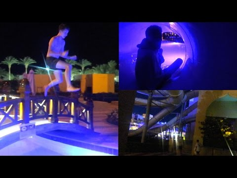BREAKING INTO A WATERPARK AT NIGHT!! *GOT CAUGHT!!*