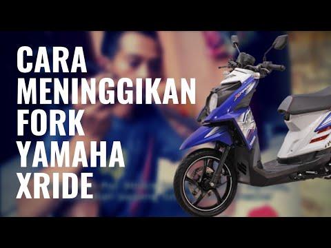 Video Cara meninggikan shock depan Yamaha Xride