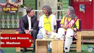 The Kapil Sharma Show  Brett Lee Honors Dr Mashoor Gulati
