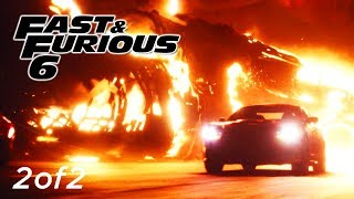 Plane Chase Scene 2of2 - FAST and FURIOUS 6 (Dodge Charger) 1080p