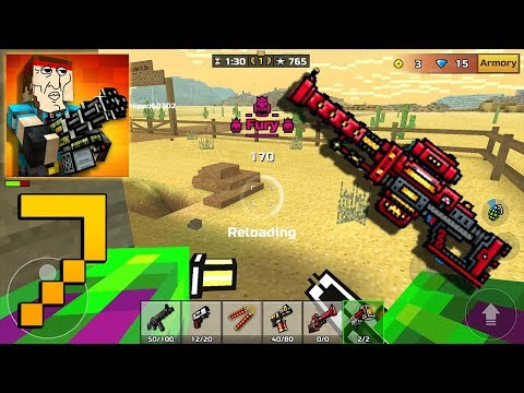 Pixel Gun 3D - Gameplay Walkthrough Part 7 - Photon Sniper Rifle