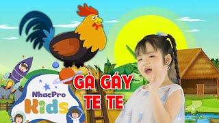 Bé Minh Vy - Gà Gáy Le Te | Nhạc Thiếu Nhi Cho Bé Vui Nhộn ♫ Nhacpro Kids - Âm Nhạc Cho Bé
