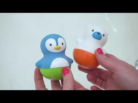 Munchkin игрушки для ванны поплавки Медведь и Пингвин Bath Bobbers™от 6 мес