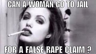 Can a woman go to prison for filing a false report of rape in Alabama ?