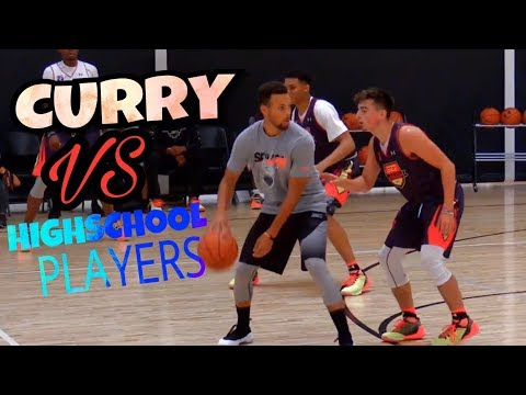 ¡¡¡Stephen Curry vs Highschool Players!!!