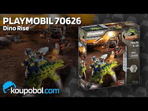 Vidéo PLAYMOBIL Dino Rise 70626 : Saichania et robot soldat