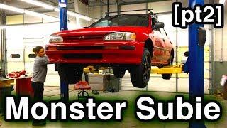 Subaru Forester Suspension SWAP [DIY Monster Subie] (How to Swap Top