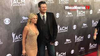 Miranda Lambert, Blake Shelton arrive at 49th Annual Academy Of Country Music Awards