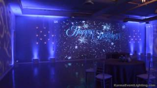 Snowfall Winter Wonderland Holiday Party Lighting Karma Event Lighting