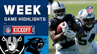 Raiders vs. Panthers Week 1 Highlights | NFL 2020